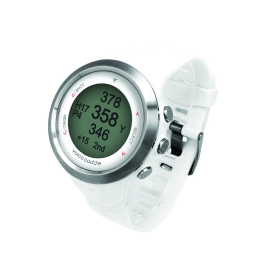 T2 Hybrid Golf GPS Watch White Side View